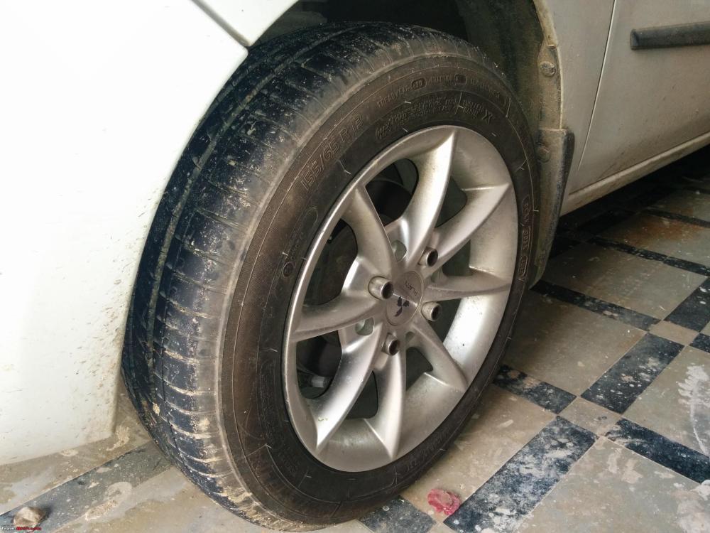 medium resolution of maruti suzuki wagonr tyre wheel upgrade thread img 20150503 144821 jpg