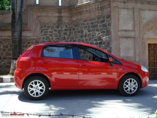 small resolution of the indian spec punto has had its length or more precisely the bumpers cut short to fall within the 4 000 mm excise benefit range