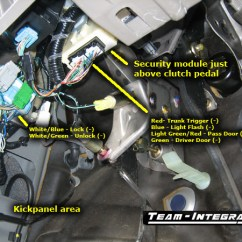 2000 Honda Civic Audio Wiring Diagram Airport Instrument Legend Rsx Alarm Information - Team Integra Forums