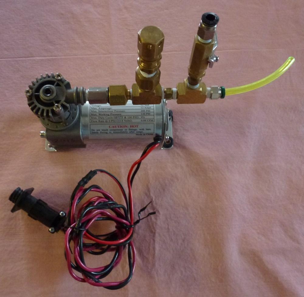 medium resolution of off board compressor setup