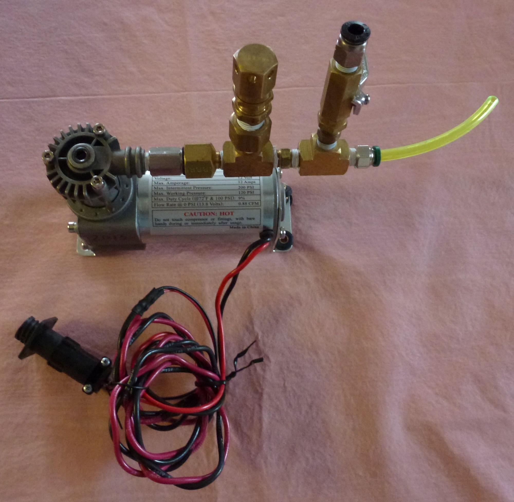 hight resolution of off board compressor setup