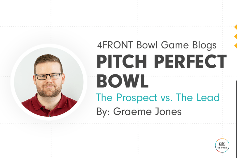 pitch perfect bowl, sponsorships, partnerships, sponsorship selling, innovation, analytics, 4FRONT, Fanalytics, sponsor prospecting, simon sinek why, apple marketing