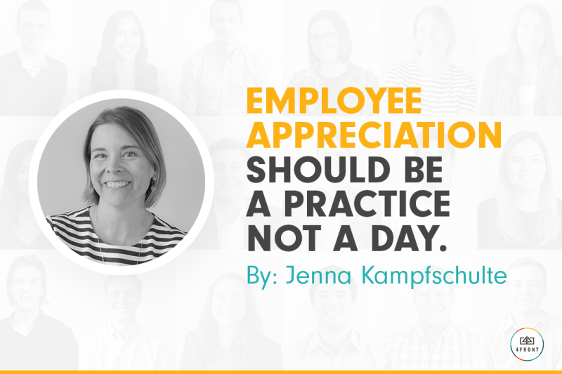 Employee Appreciation Day, #employeeappreciationday, 4FRONT, human resources, teammate appreciation, how to best support your co-workers