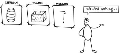 23 Wege, um eine (agile) Transformation an die Wand zu fahren. Weg 9: Agil heißt flexibel!