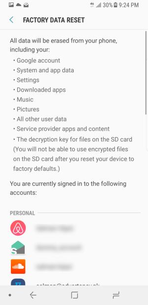 Samsung Factory Data Reset