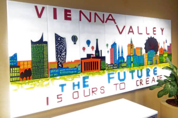 Gemaltes Bild von Vieanna Valley. The Future is ours