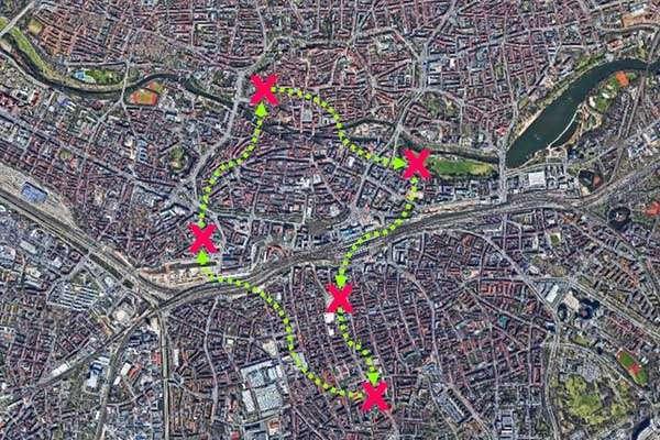 Sinnbildliche Darstellung der City-Challenge in Nürnberg