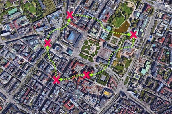 Sinnbildliche Darstellung der City-Challenge in Stuttgart