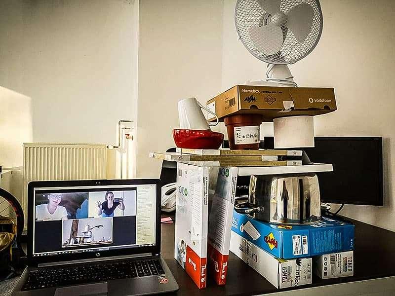 Turmbau bei der stay@home-Challenge