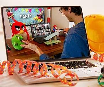 Online Kettenreaktion bei der Karnevalparty