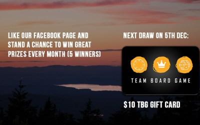 Winner of November Giveaway