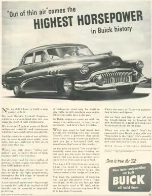 1952 Buick Models