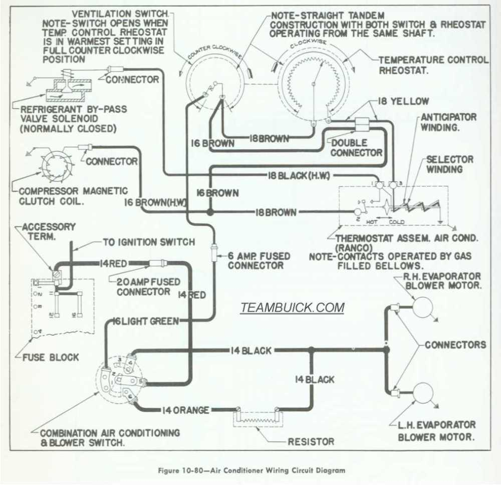 medium resolution of 1955 buick wiring diagrams air conditioning rh teambuick com 1965 buick skylark wiring diagram 1989