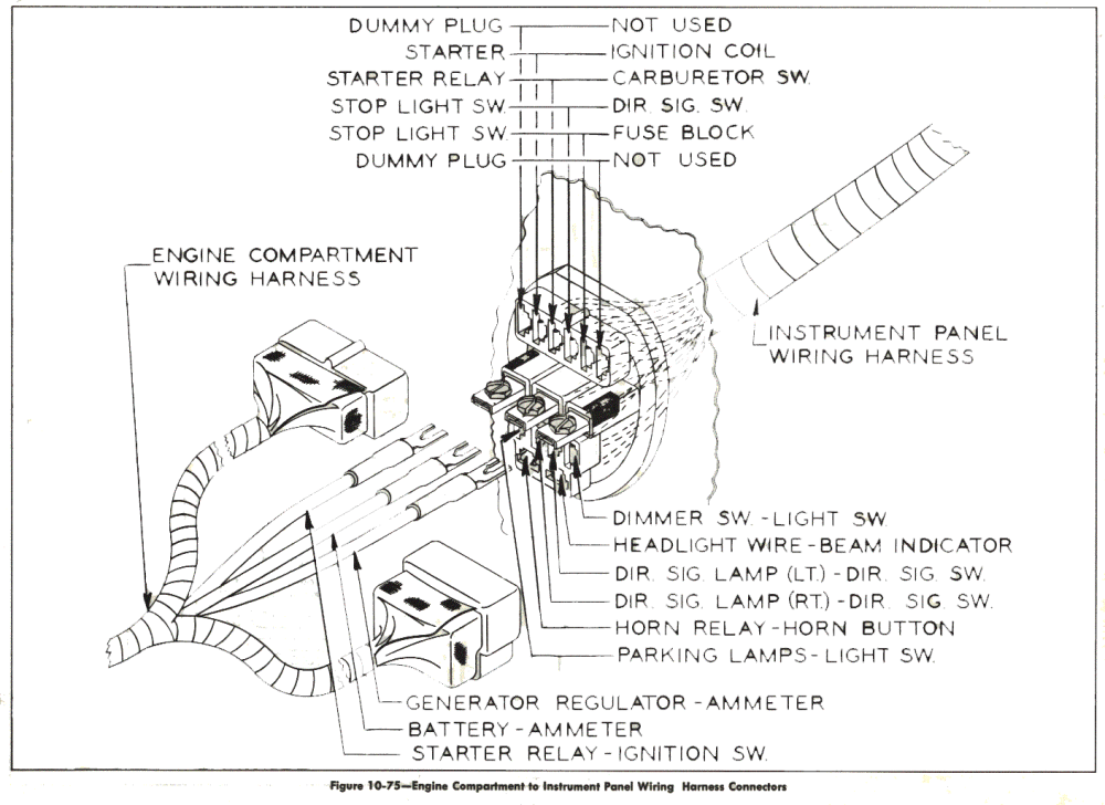 medium resolution of 1957 buick wiring diagram engine compartment to instrument panel 1957 buick wiring diagram