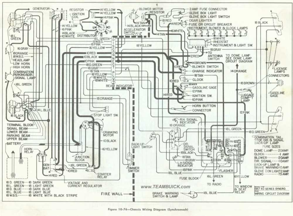 medium resolution of 1957 buick chassis wiring diagram synchromesh rh teambuick com ford f53 chassis wiring diagram ford f53