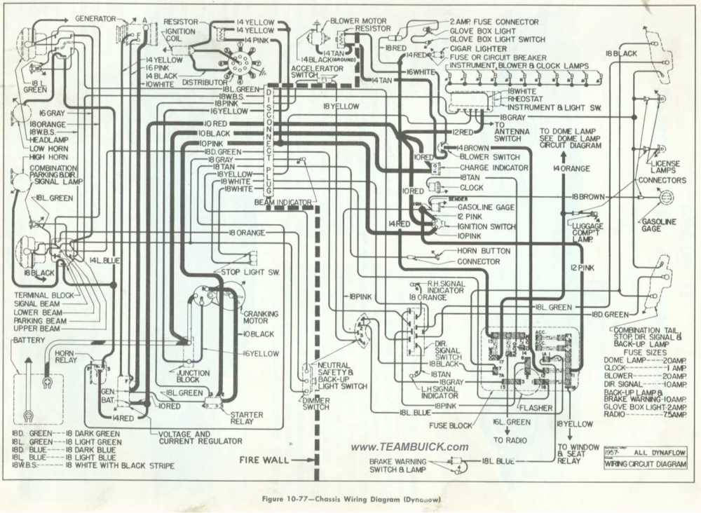 medium resolution of chassis wiring diagram dynaflow 1957 buick