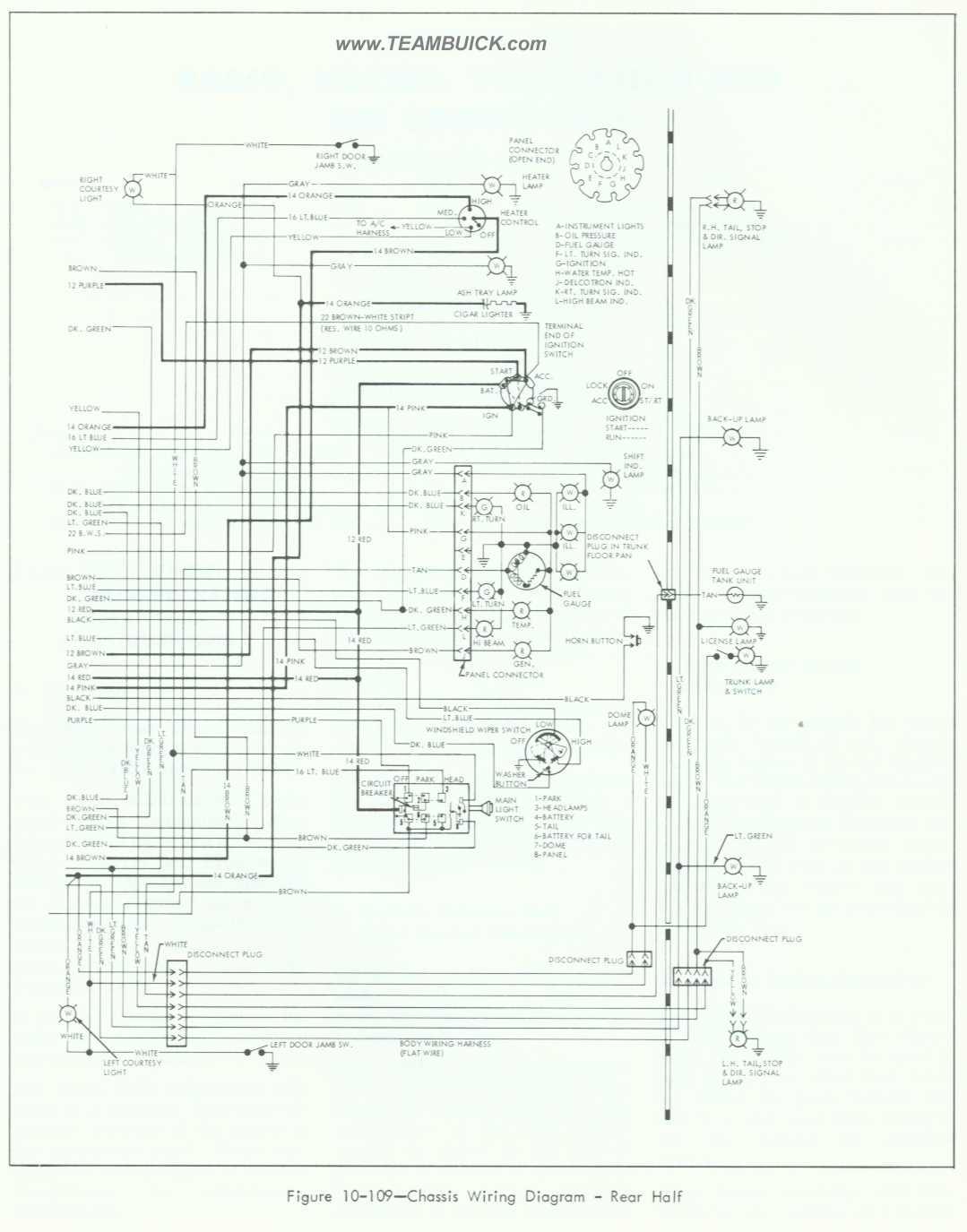 hight resolution of 1964 buick special skylark wiring diagram rear half