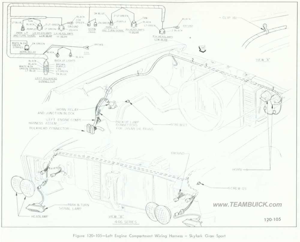 medium resolution of 1966 buick skylark gran sport left engine compartment wiring harness