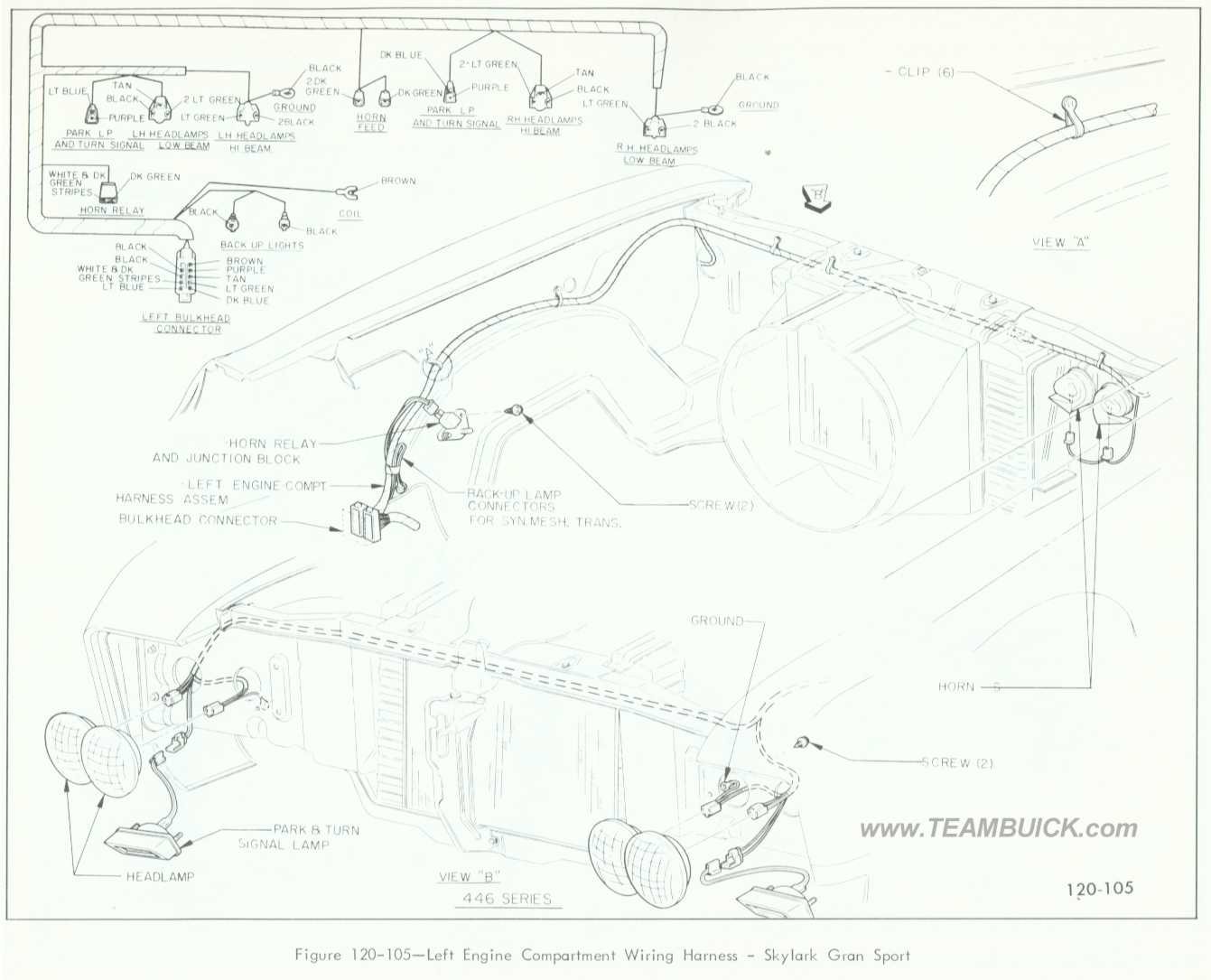 hight resolution of 1966 buick skylark gran sport left engine compartment wiring harness