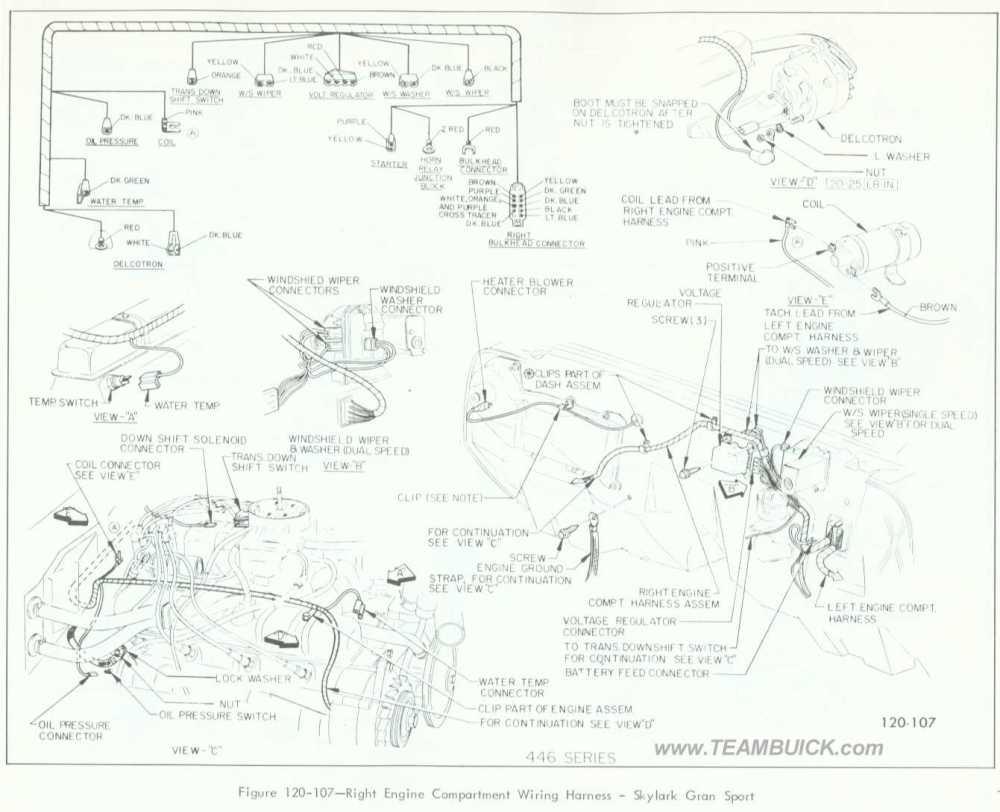 medium resolution of 1966 buick skylark gran sport right engine compartment wiring harness rh teambuick com 1964 buick skylark 1969 buick skylark