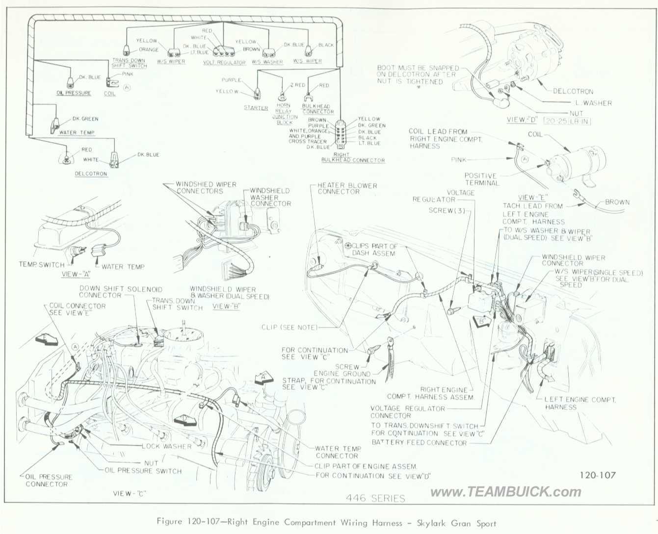 hight resolution of 1966 buick skylark gran sport right engine compartment wiring harness rh teambuick com 1964 buick skylark 1969 buick skylark