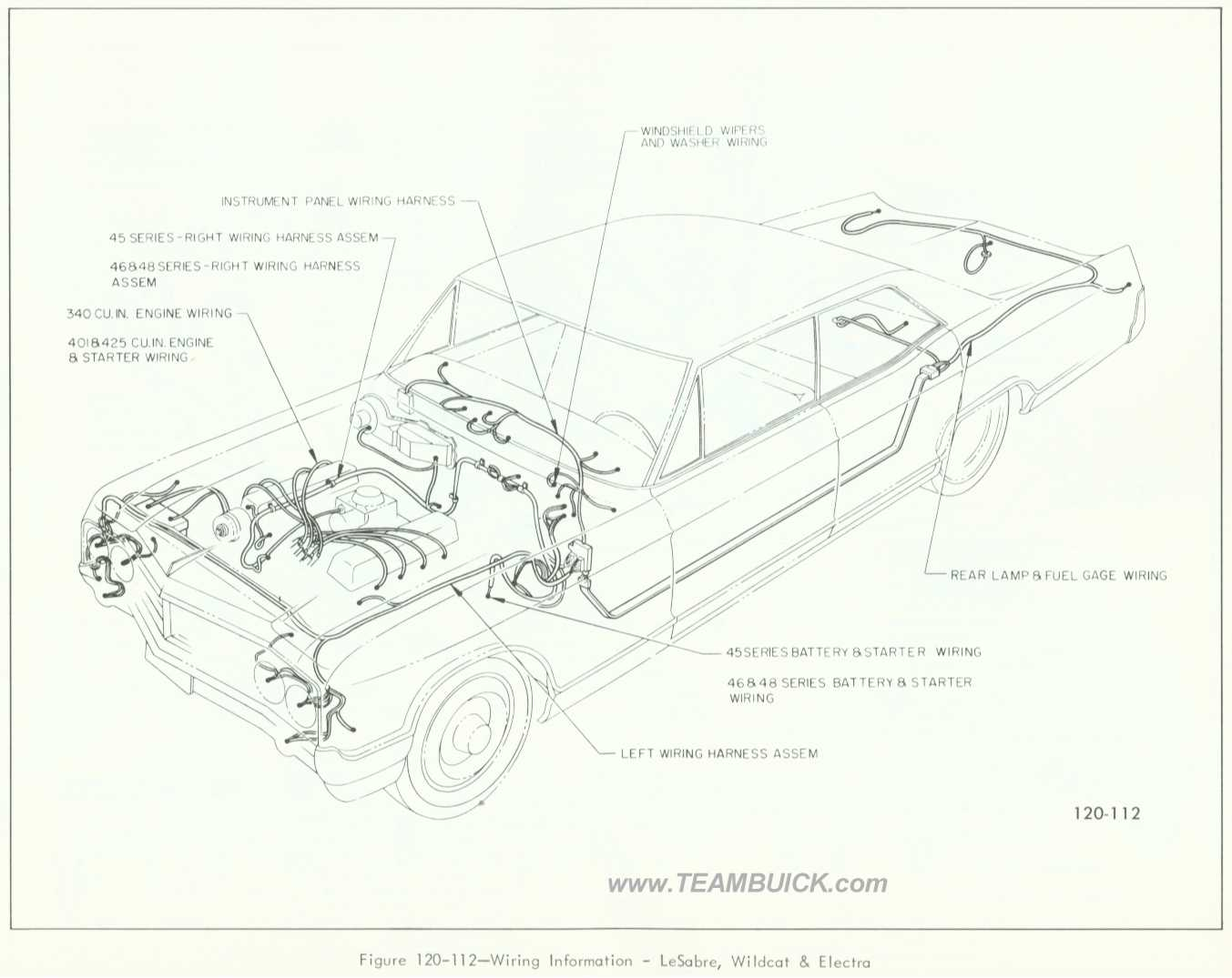 1966 Buick LeSabre, Wildcat and Electra, Wiring Information