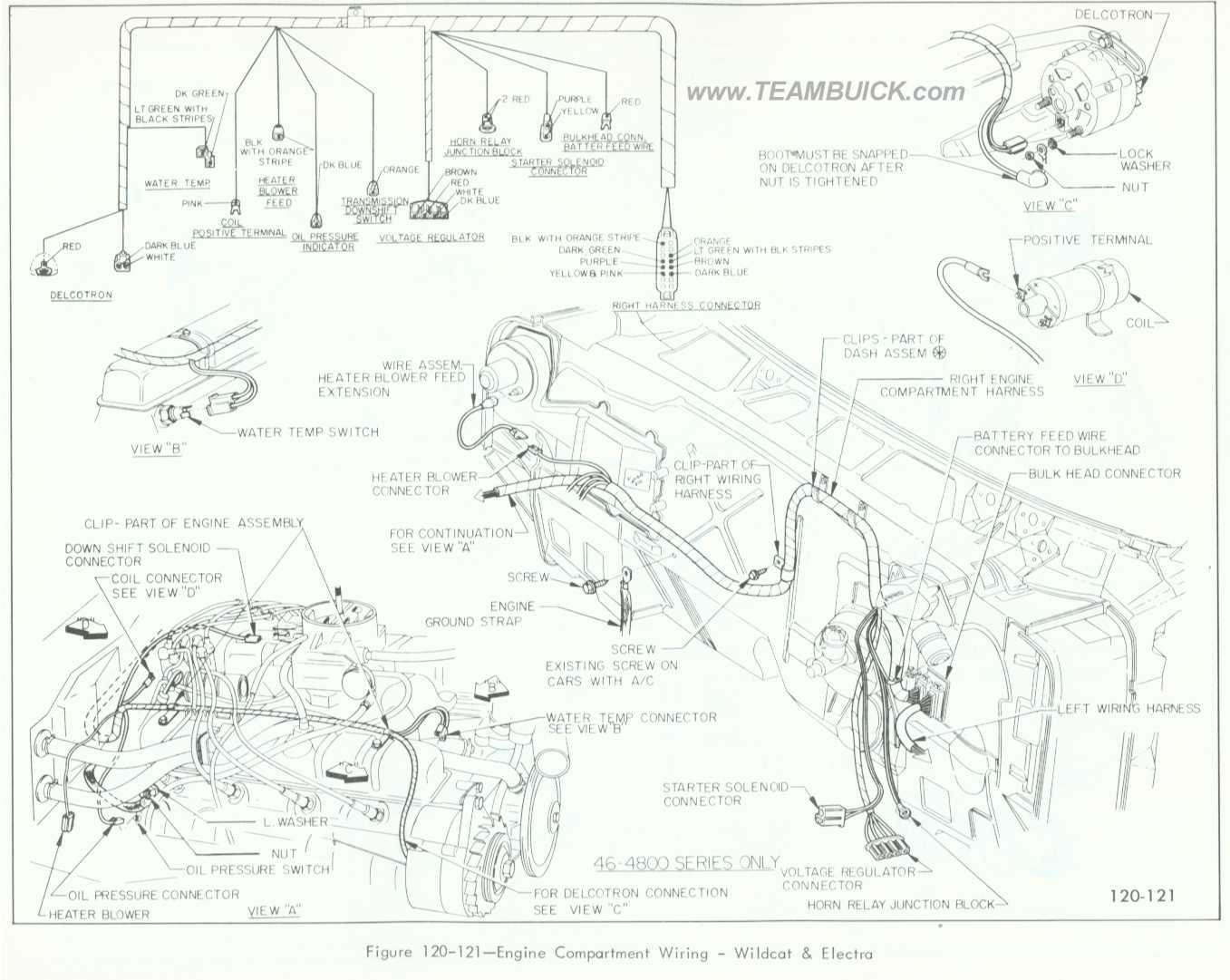 1966 Buick Wildcat, Electra, Engine Compartment Wiring