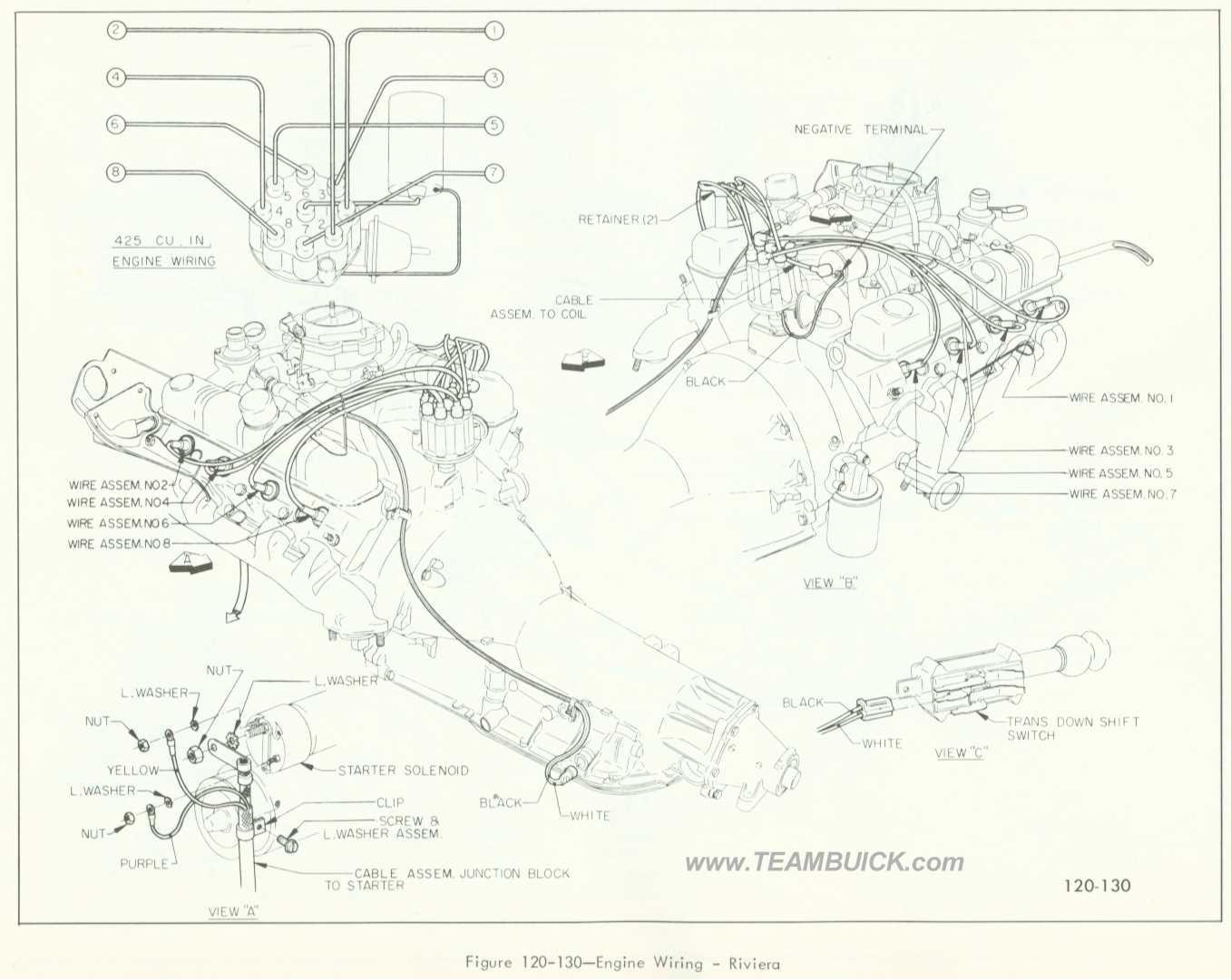 1966 Buick Riviera, Engine Wiring