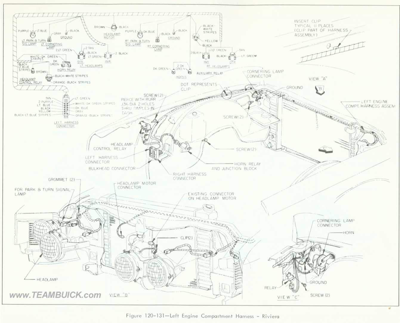 1966 Buick Riviera, Left Engine Compartment Wiring