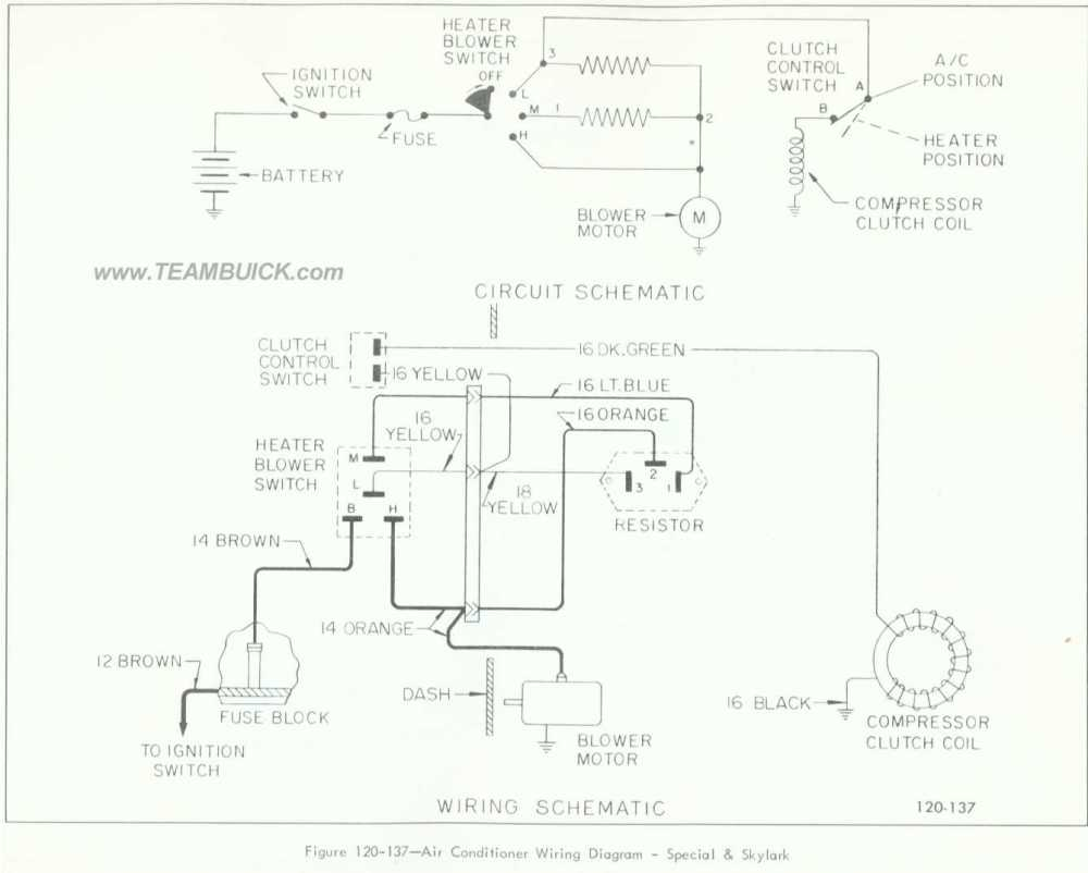 medium resolution of 1966 buick special skylark air conditioner wiring diagram 1972 skylark 1964 skylark