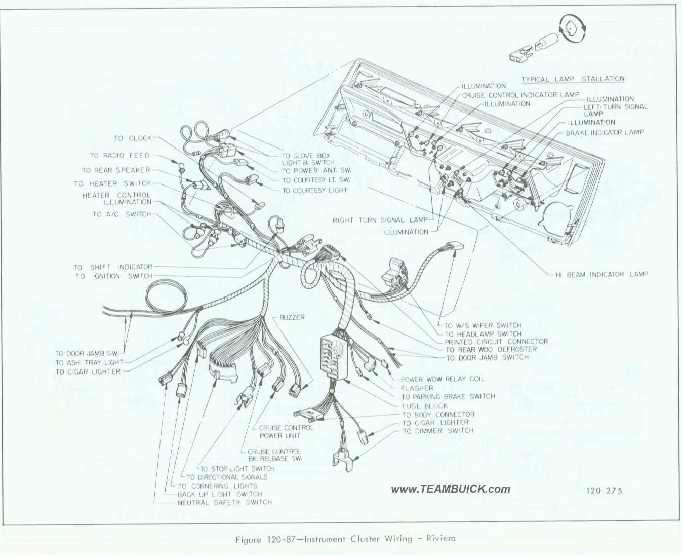 1967 Buick Riviera, Instrument Cluster Wiring