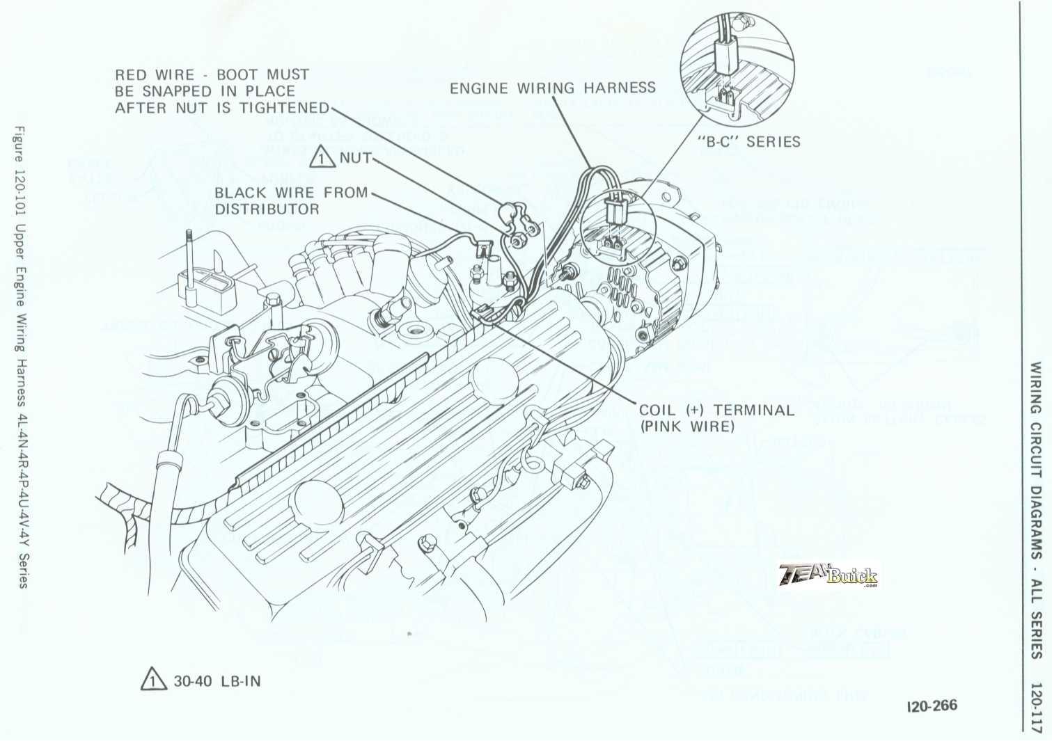 Buick Upper Engine Wiring Harness 4l 4n 4r 4p 4u 4v