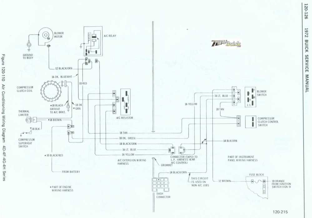 medium resolution of 1972 buick air conditioning wiring diagram 4d 4f 4g 4h series