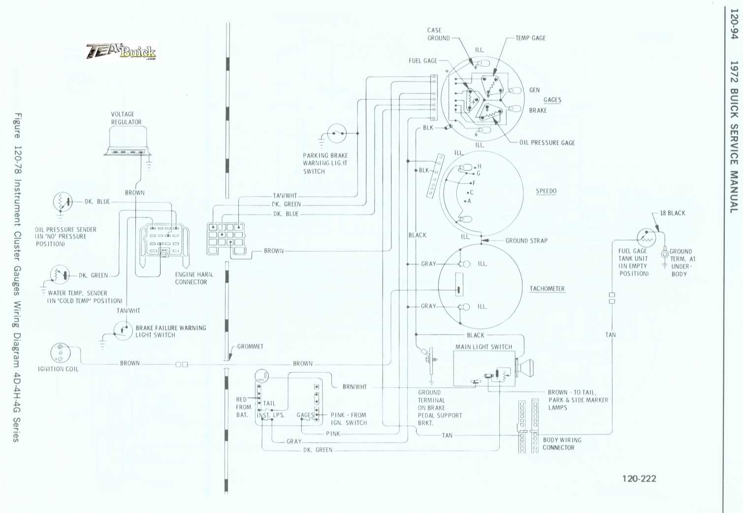 Buick Instrument Cluster Gauges Wiring Diagram