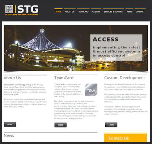STG Website screen