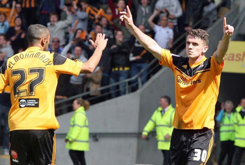 Hull City players celebrating