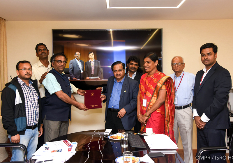Signing of MoU   ISRO (NESAC) on the Development of UAVs
