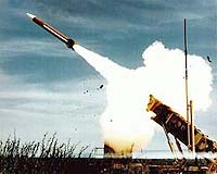 Patriot missile launching