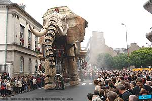 Giant 30' tall robotic elephant