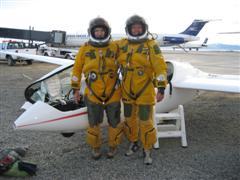Fossett sets glider record