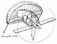 Arc wing VTOL