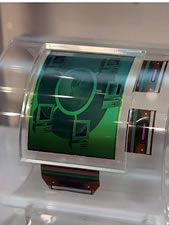 Bendable electronic color paper