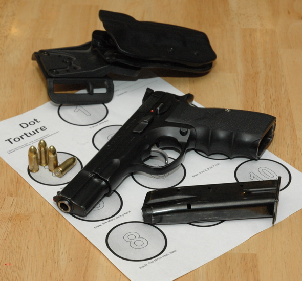 CZ75 set uo for USPA