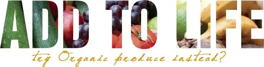 try organic food instead?