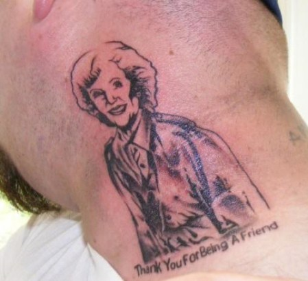 Bad Tattoos of The Golden Girls America's Worst Tattoos Ever Ugliest Tattoos awful ugly stupid people funny pictures awkward family photos worst family photos horrible tattoos terrible nasty ellen