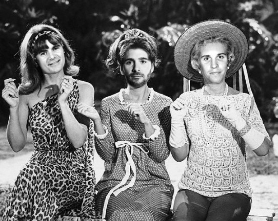 Jeff Gordon, Jimmie Johnson, Denny Hamlin  as Ginger, Mary Ann, & Mrs. Howell from Gilligan's Island, Funny NASCAR, funny pictures of