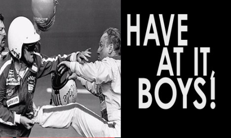Have At It Boys!,  vintage nascar old nascar   NASCAR Fight, Cale Yarborough, NASCAR Feuds, NASCAR Crashes, NASCAR Wrecks