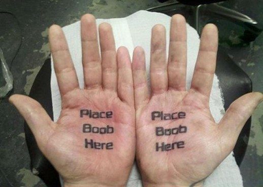 place boobs here on hands worst tattoos, bad tattoos funny tattoos ugliest tattoos worst family photos funny stupid people creepy nasty horrible wtf epic fails