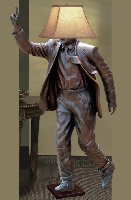 What happened to the Joe Paterno Statue? Where is it now? Joe Pa Floor Lamp! Great uses for the Joe Paterno Statue