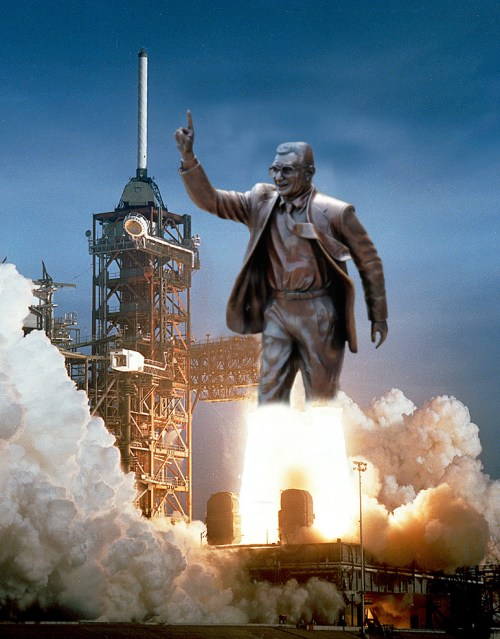 What happened to the Joe Paterno Statue? Where is it now? Joe Pa Space Shuttle Rocket! Send him to outer space with Jerry Sandusky!